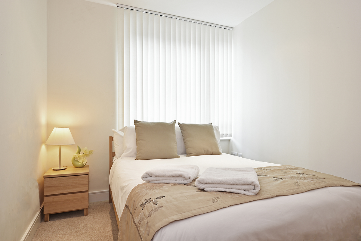 Double bed at Still Life Vauxhall, Vauxhall, London - Citybase Apartments