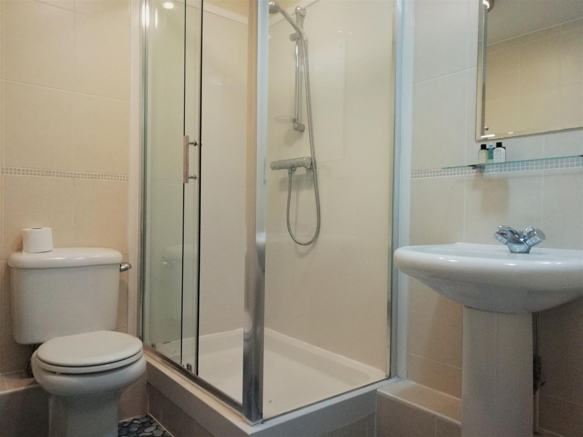 Shower at Still Life Vauxhall, Vauxhall, London - Citybase Apartments
