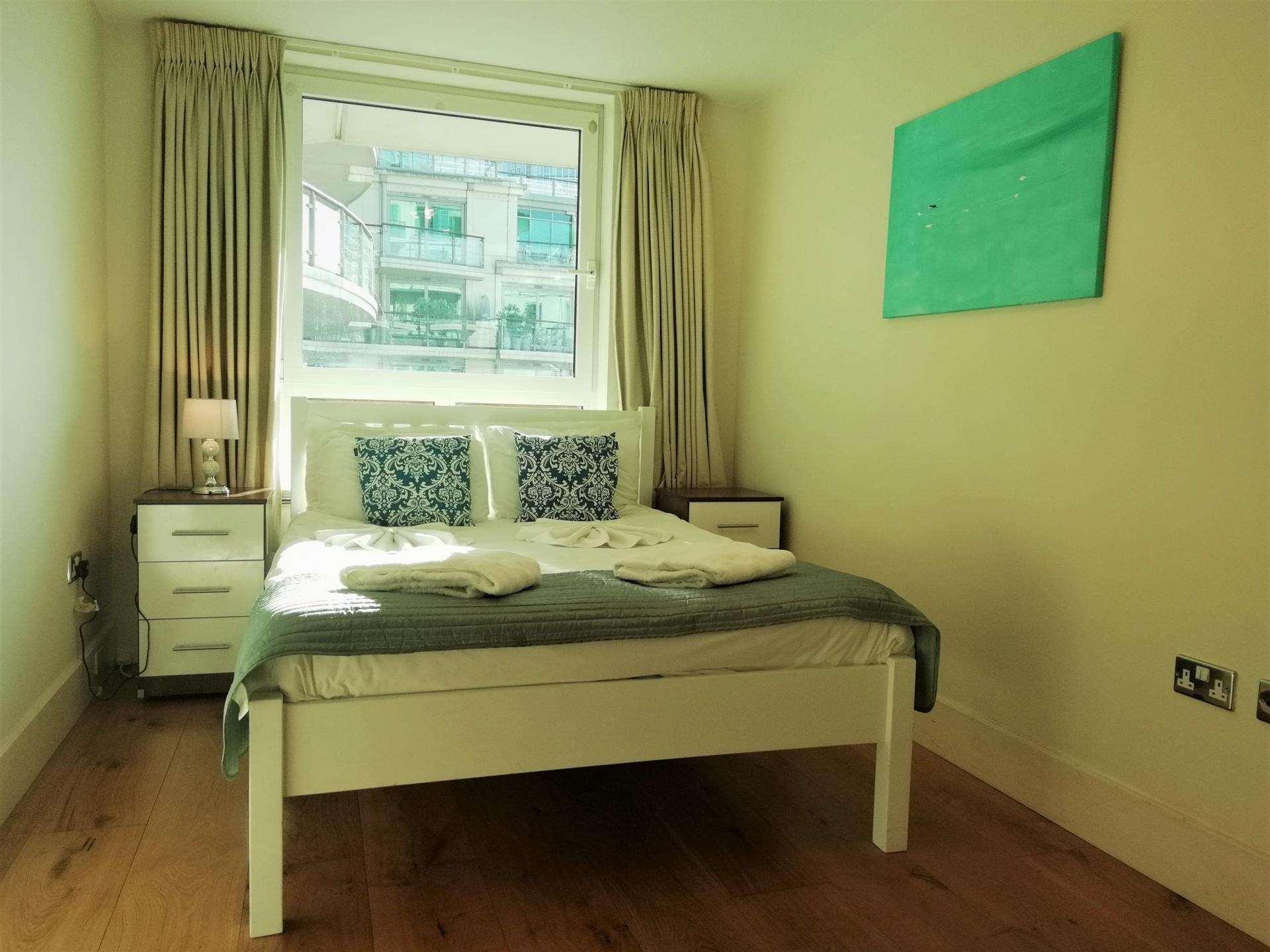 Comfy bed at Still Life Vauxhall, Vauxhall, London - Citybase Apartments
