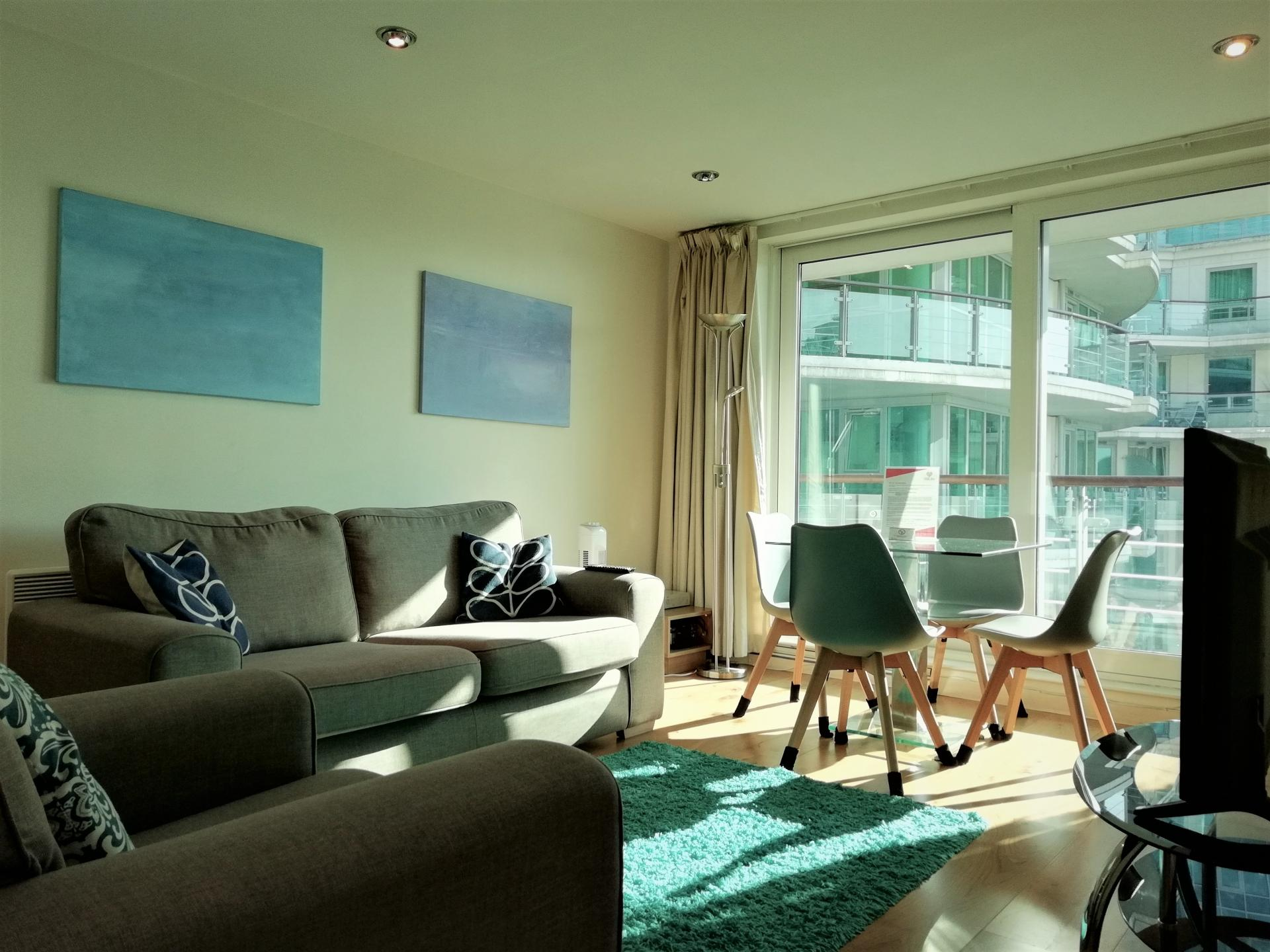 Lounge at Still Life Vauxhall, Vauxhall, London - Citybase Apartments