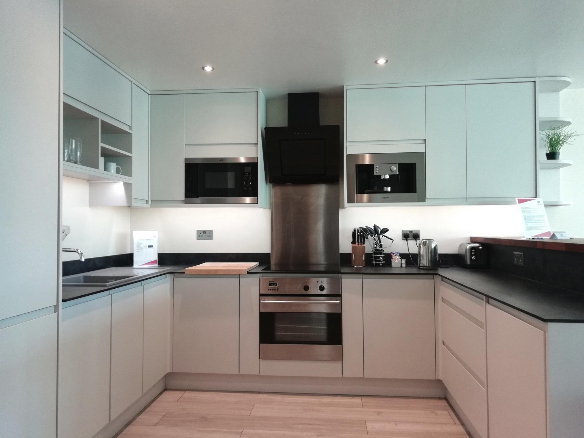 Kitchen at Still Life Vauxhall, Vauxhall, London - Citybase Apartments