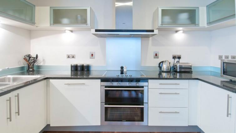 Kitchen at Discovery Dock East Apartment - Citybase Apartments