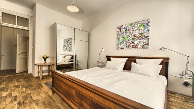 Bed at Apartments Maiselova 17 - Citybase Apartments