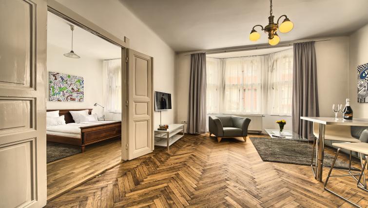 Dining area at Apartments Maiselova 17 - Citybase Apartments