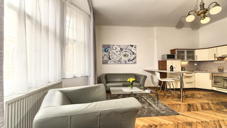 Living room at Apartments Maiselova 17 - Citybase Apartments