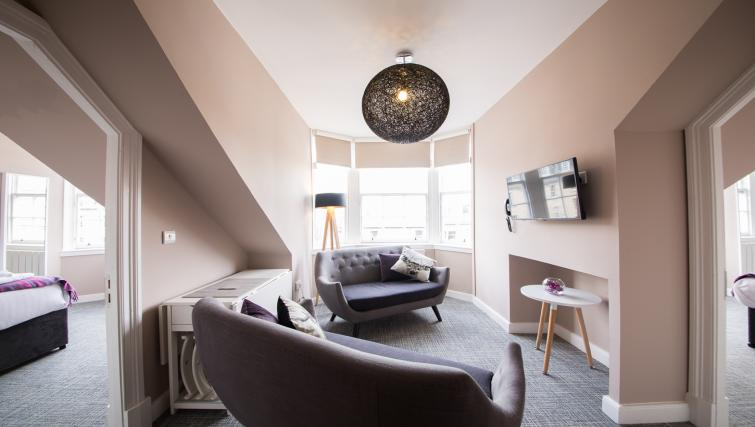 Living area at The Spires Edinburgh - Citybase Apartments