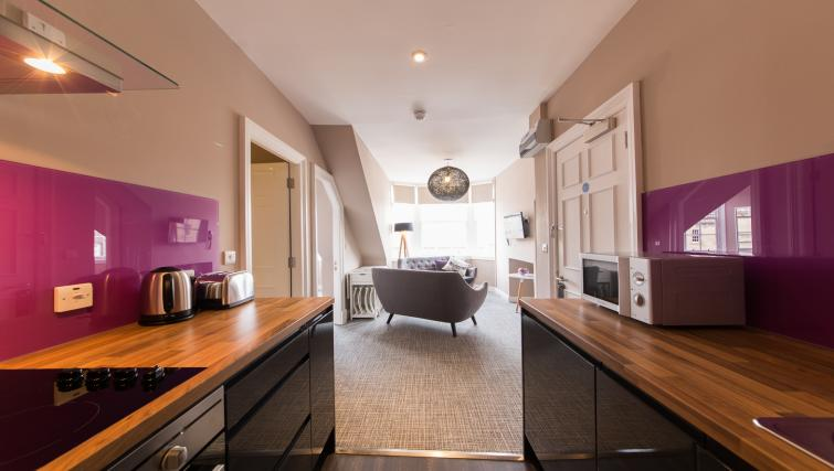 Kitchen at The Spires Edinburgh - Citybase Apartments