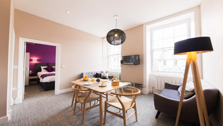 Dining area at The Spires Edinburgh - Citybase Apartments