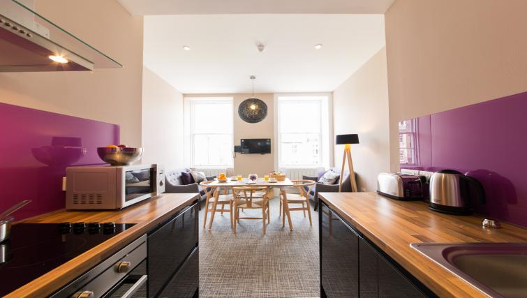 Kitchen/dining table at The Spires Edinburgh - Citybase Apartments