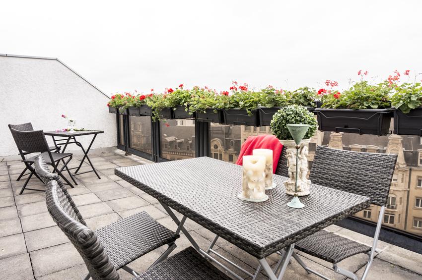 Terrace area at Villa Marilyn Apartments - Citybase Apartments