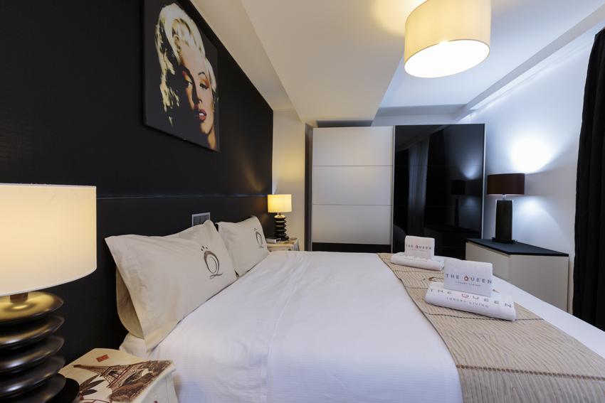 Spacious bedroom at Villa Marilyn Apartments - Citybase Apartments