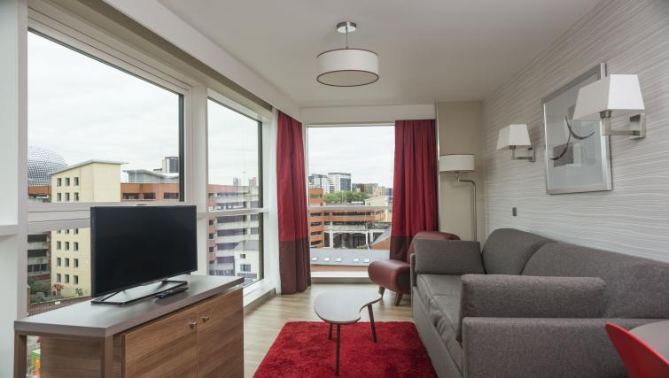 Living area at Adagio Birmingham City Centre - Citybase Apartments