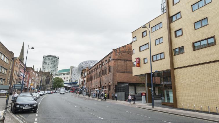 Street view at Adagio Birmingham City Centre - Citybase Apartments