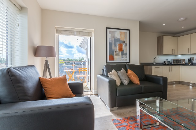 Sofa at The Heights at Athena Court - Citybase Apartments