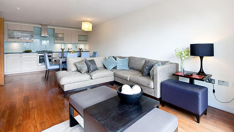 Modern living area at Still Life Barbican - Citybase Apartments