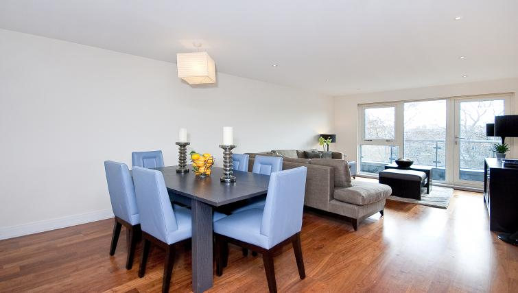 Dining area at Still Life Barbican - Citybase Apartments