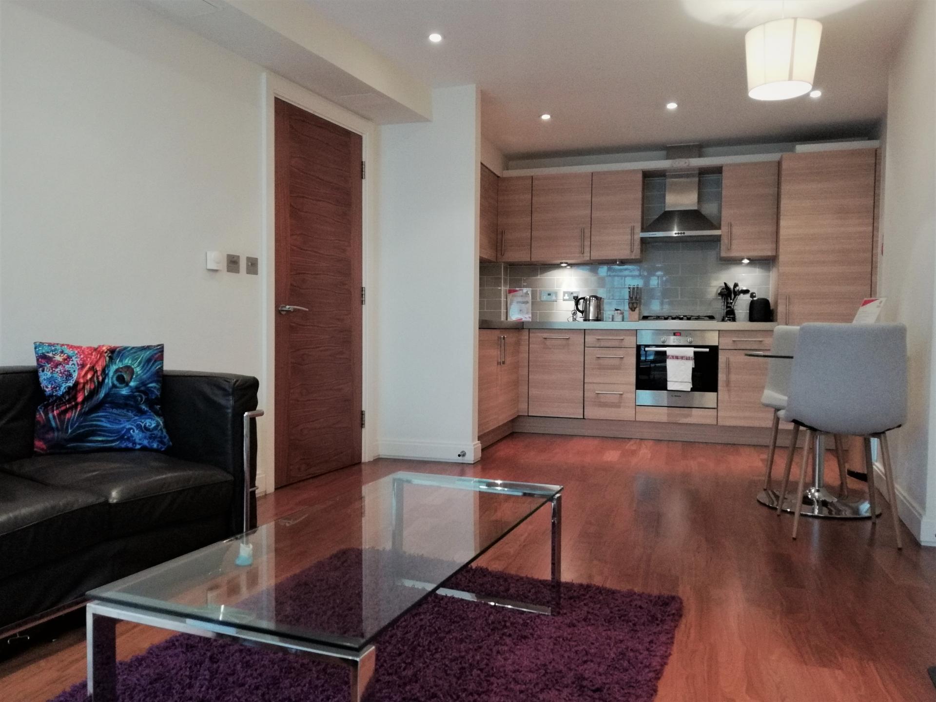 Open plan living at Still Life Barbican, Barbican, London - Citybase Apartments