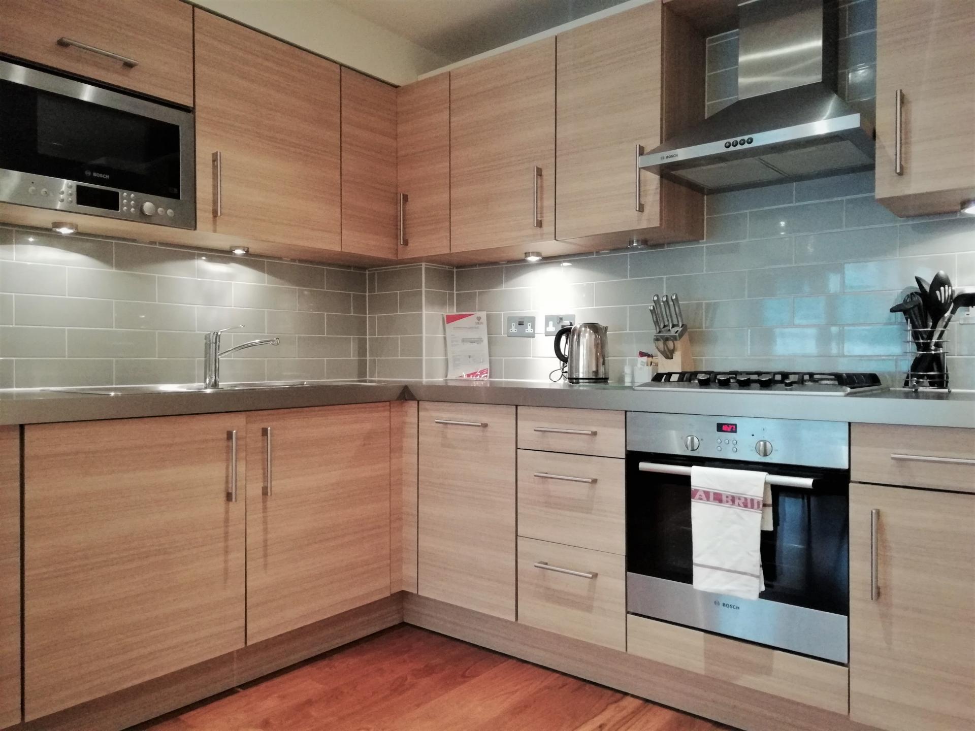 Kitchen at Still Life Barbican, Barbican, London - Citybase Apartments