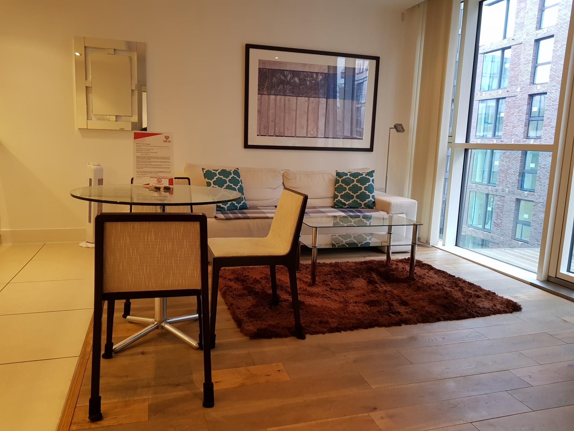 Dining table at Still Life Tower Hill Deluxe - Citybase Apartments