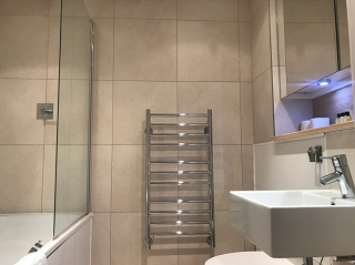 Shower at Still Life Tower Hill Deluxe - Citybase Apartments