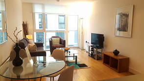 Spacious living area at Still Life Tower Hill Deluxe - Citybase Apartments