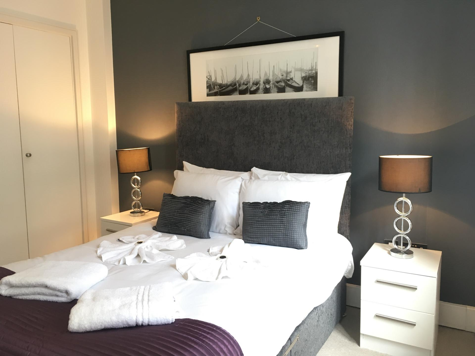 Stylish bedroom at Still Life Tower Hill Executive - Citybase Apartments
