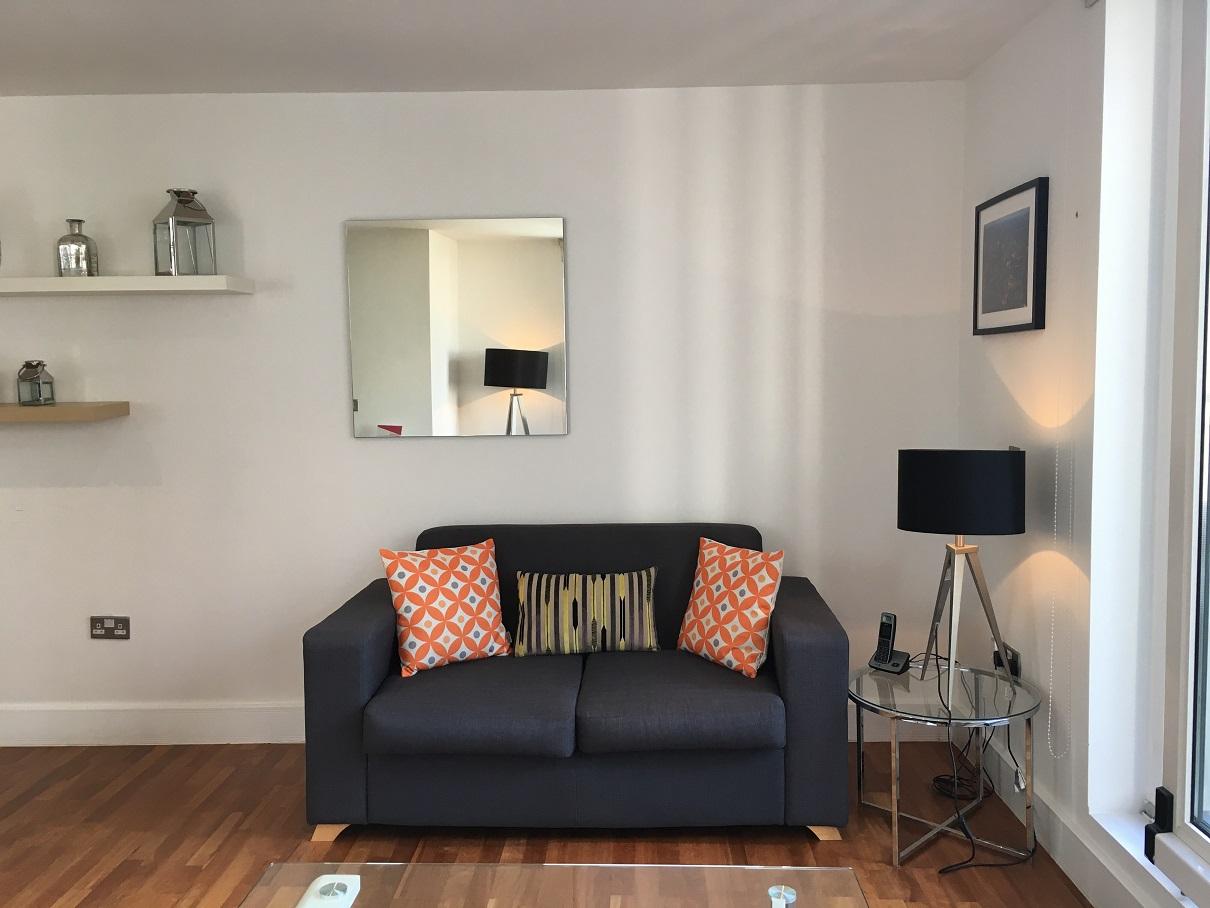 Sofa at Still Life Tower Hill Executive - Citybase Apartments