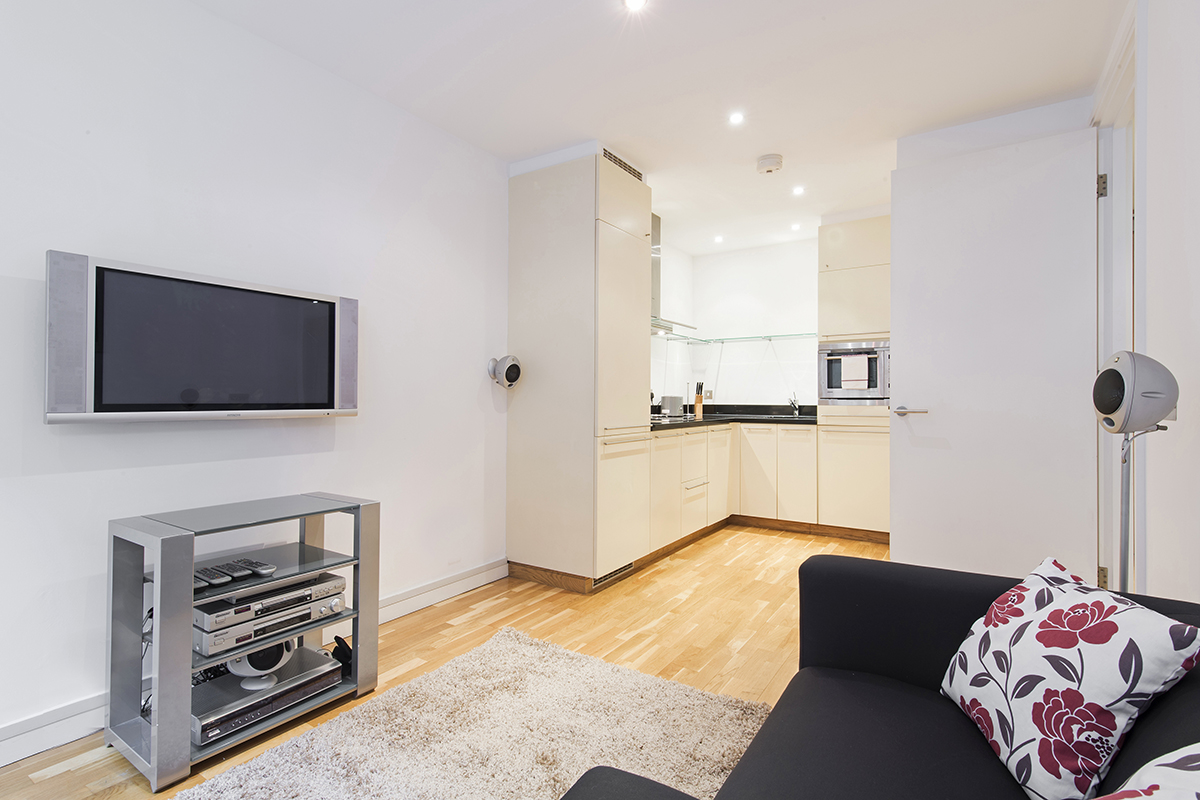 Modern living area at Still Life St Paul's Executive - Citybase Apartments