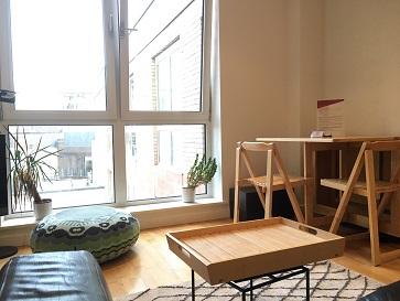 Bright living room at Still Life St Paul's Executive - Citybase Apartments