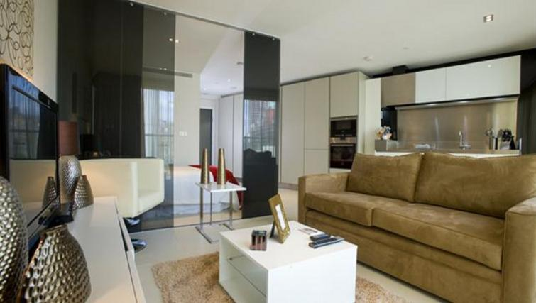 Living area at Still Life Old Street Executive - Citybase Apartments