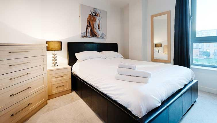 Double bedroom at Halo West One Apartments - Citybase Apartments