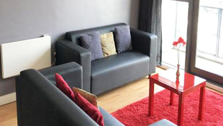 Comfortable living area at Halo West One Apartments - Citybase Apartments