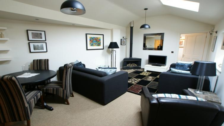 Living area at Moatside Gate Apartment - Citybase Apartments