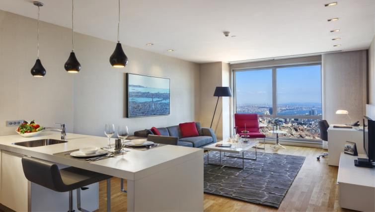 Living area at Fraser Place Anthill Istanbul - Citybase Apartments