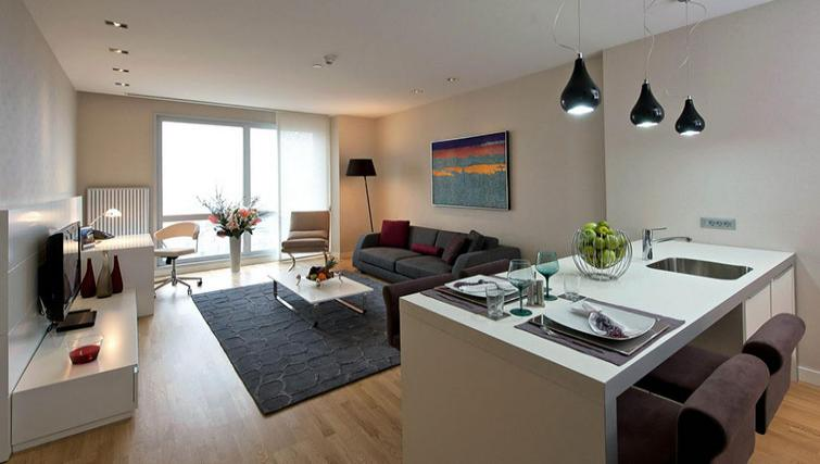 Living room at Fraser Place Anthill Istanbul - Citybase Apartments
