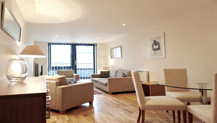 Living room at Still Life Southwark Executive - Citybase Apartments