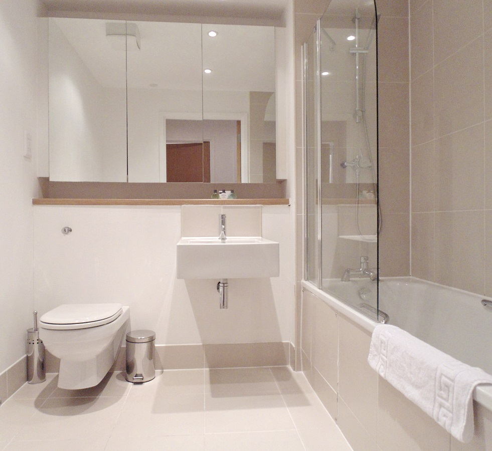 Modern bathroom at Still Life Southwark Executive - Citybase Apartments