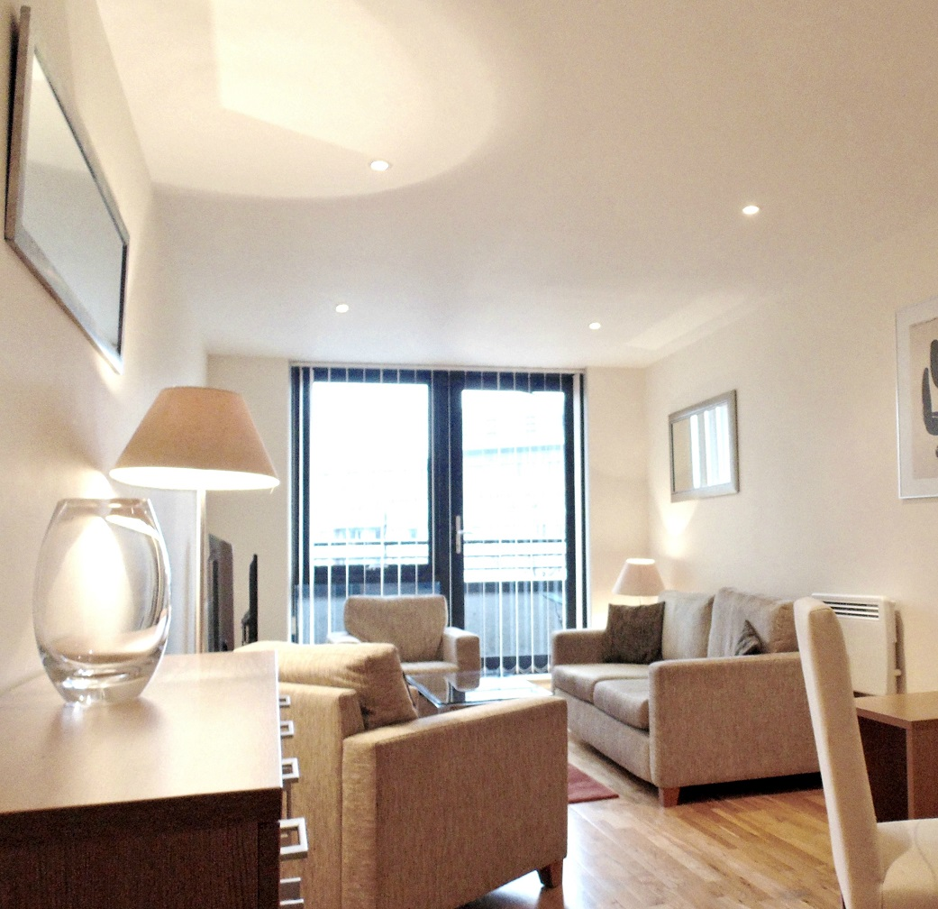 Modern living room at Still Life Southwark Executive - Citybase Apartments