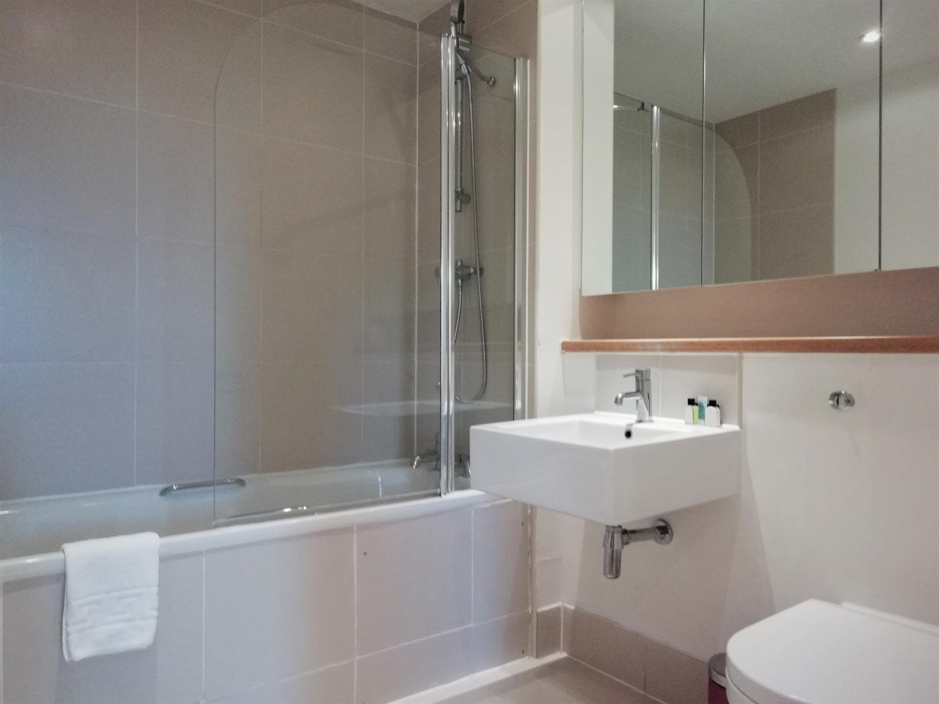 Shower at Still Life Southwark Executive, Southwark, London - Citybase Apartments