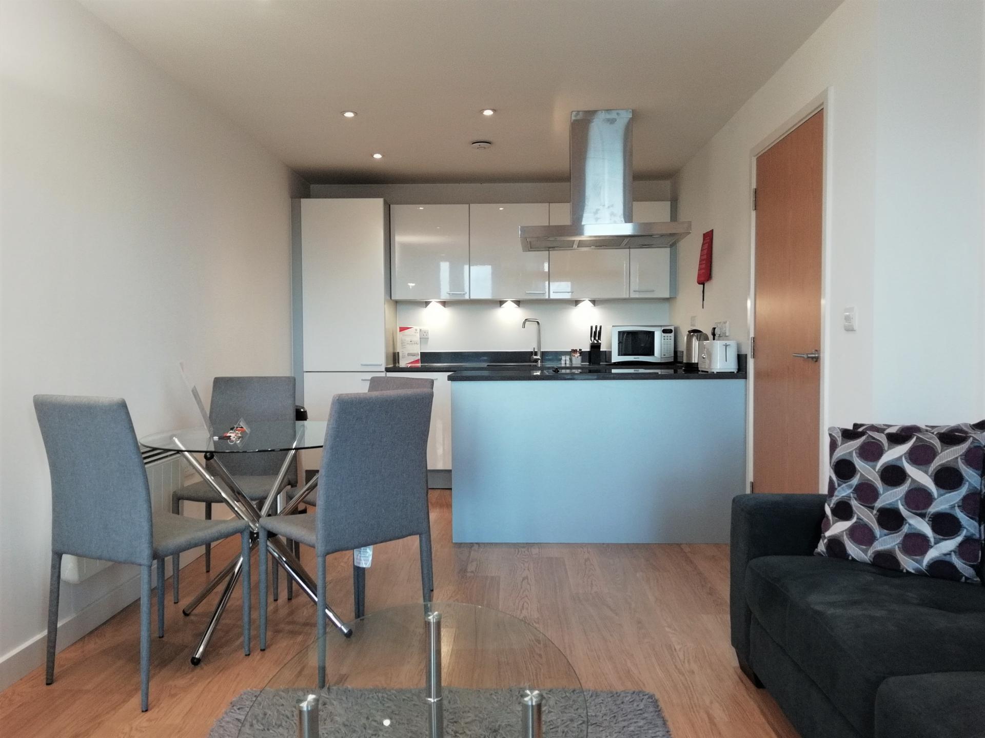 Open plan living at Still Life Southwark Executive, Southwark, London - Citybase Apartments