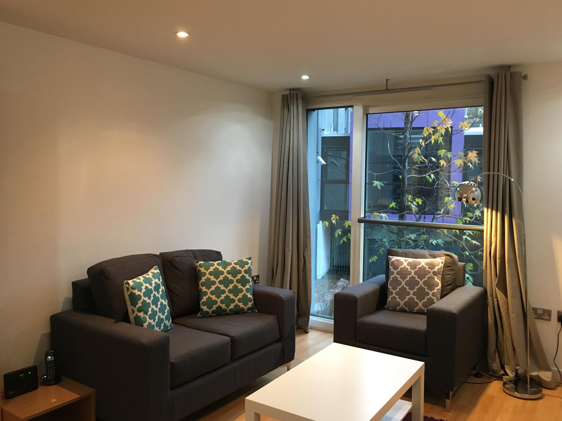 Modern living room at Still Life Clerkenwell Executive - Citybase Apartments