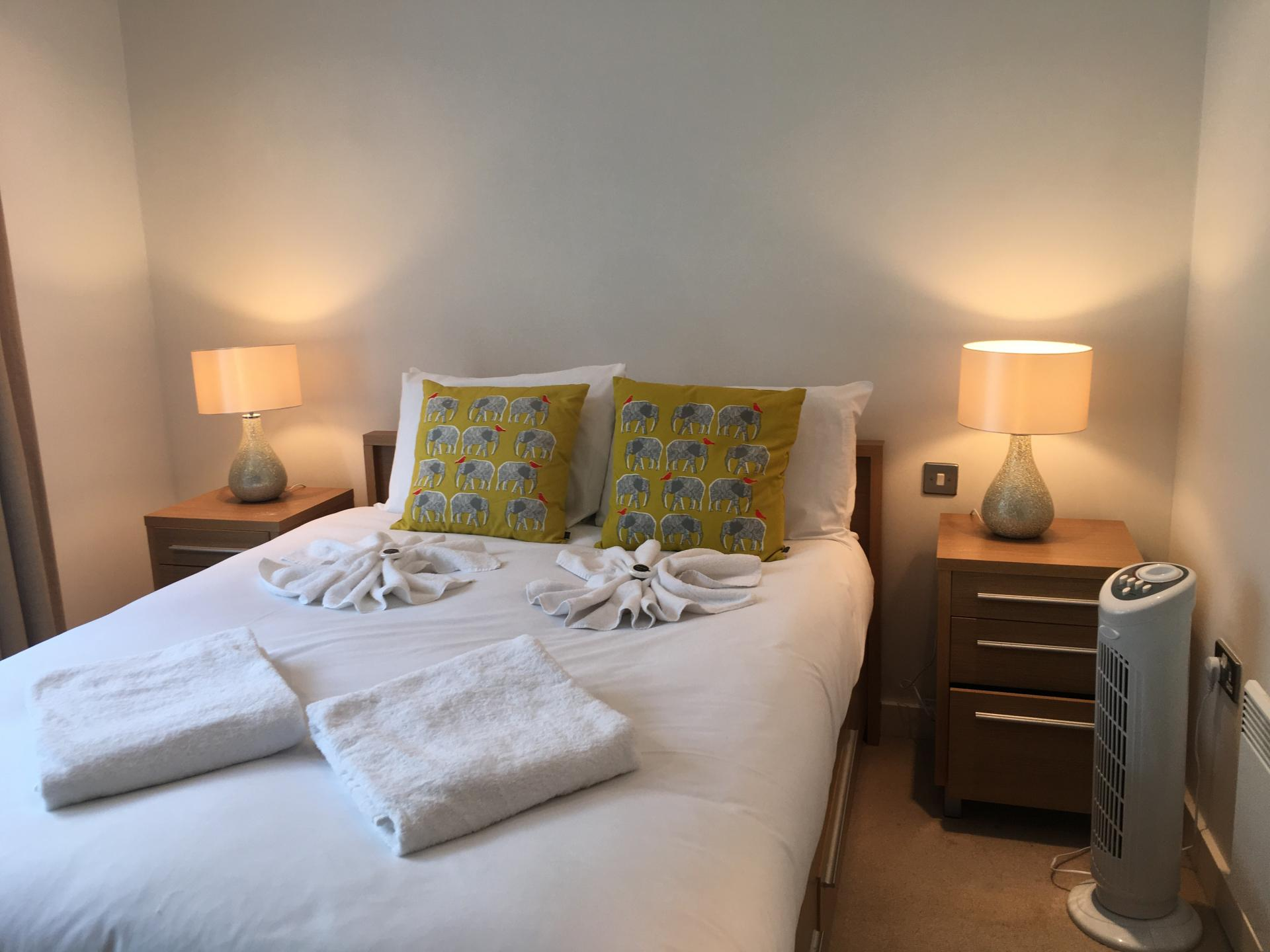 Light bedroom at Still Life Clerkenwell Executive - Citybase Apartments