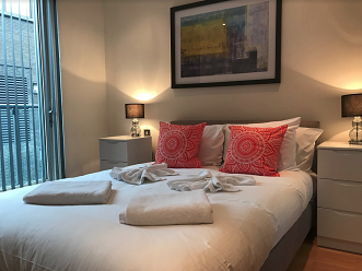 Cosy bedroom at Still Life Clerkenwell Executive - Citybase Apartments