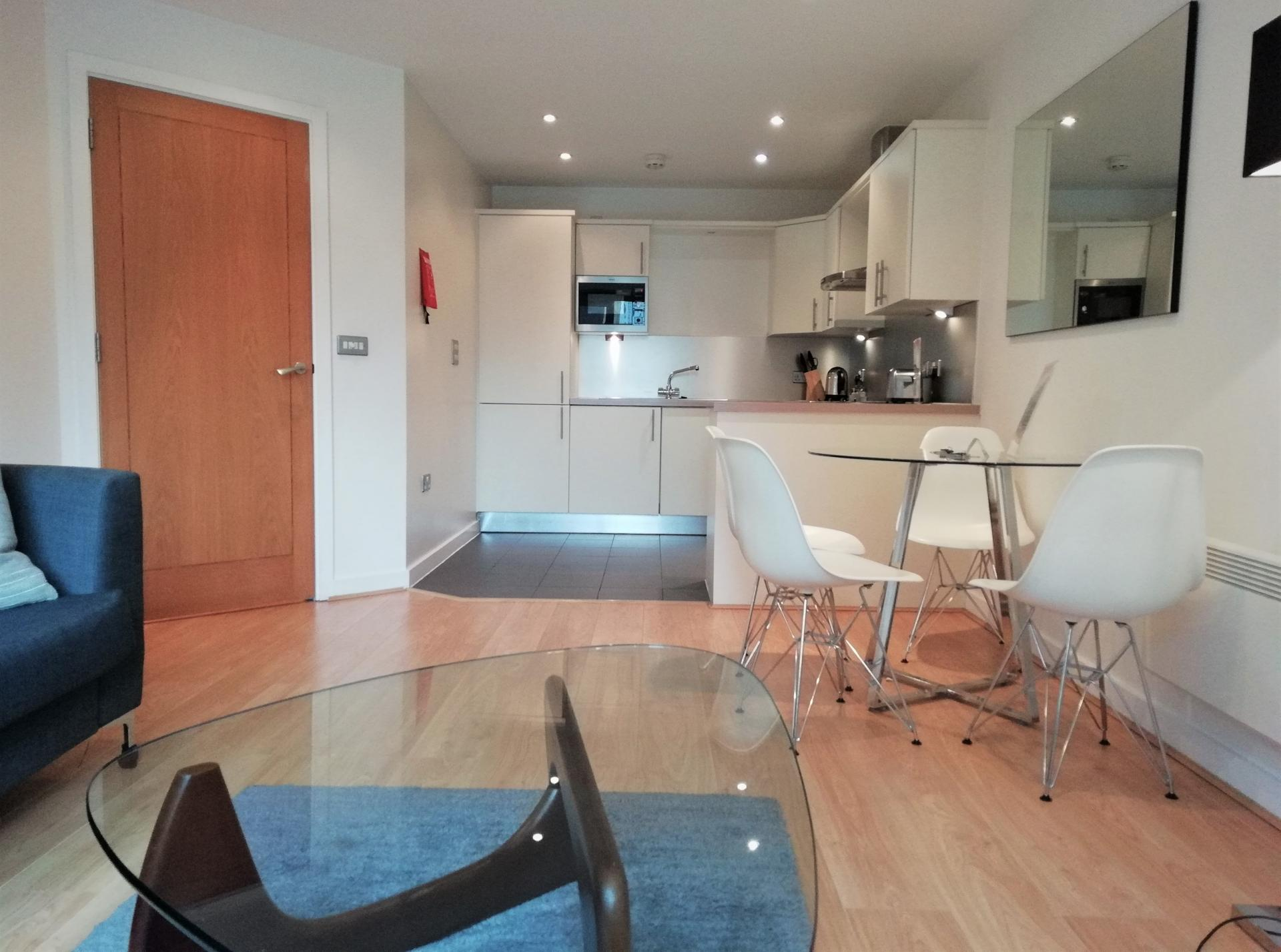 Open plan living at Still Life Clerkenwell Executive, Clerkenwell, London - Citybase Apartments