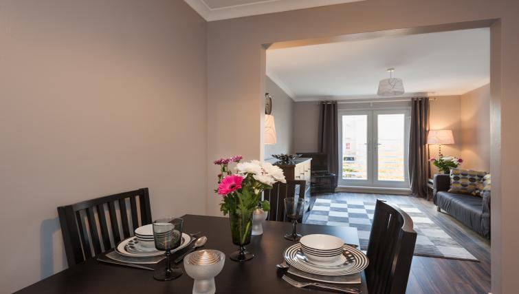 Dining area at Brunswick Apartment - Citybase Apartments
