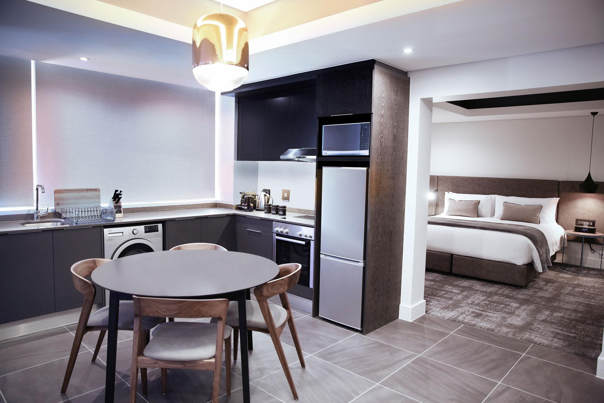 Dining area at The Capital Mirage, De Waterkant, Cape Town - Citybase Apartments