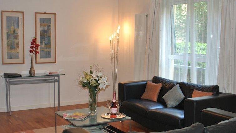 Bright living area at Holyrood Apartments - Citybase Apartments