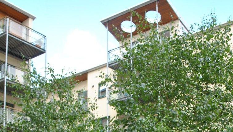 Modern exterior at Holyrood Apartments - Citybase Apartments