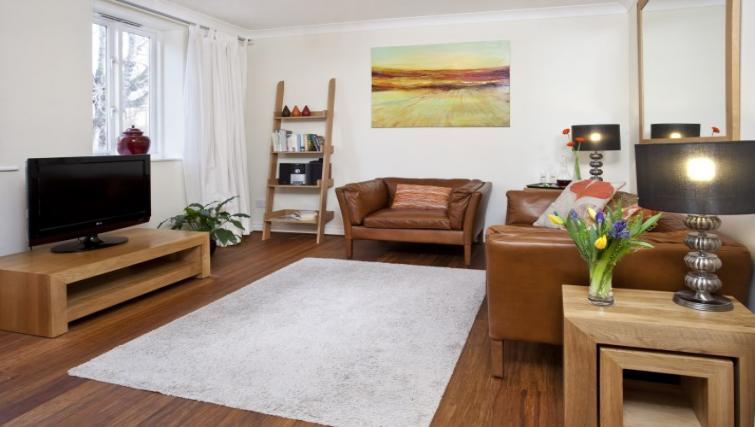 Living area at Monkbridge Court Apartment - Citybase Apartments