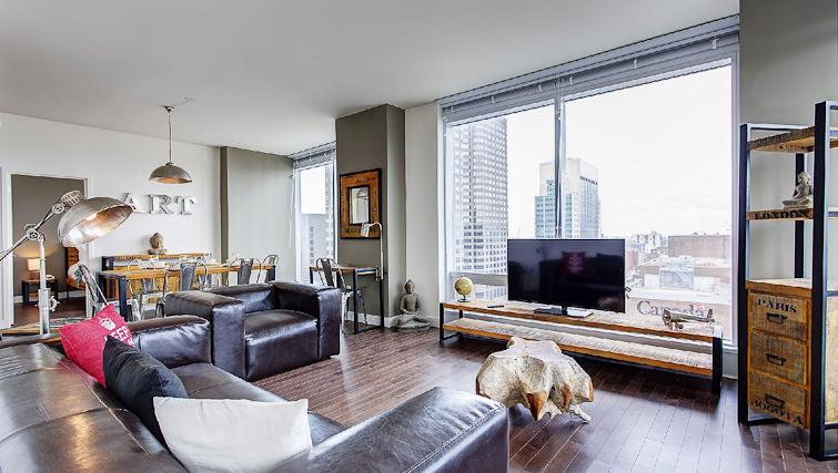 Living space at Le V Apartments - Citybase Apartments